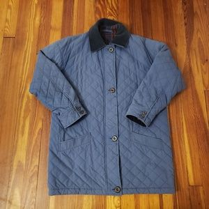 Burberry's Vintage Blue Quilted Jacket. The jacke